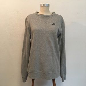 Nike Sportswear Soft Gray Women Sweatshirt Small